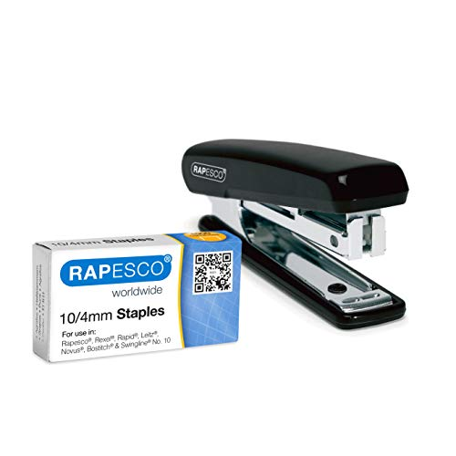 Rapesco Pocket - Grapadora con grapas 1000 unidades, 15 hojas de capacidad, usa grapas 10/4 mm, colores surtidos