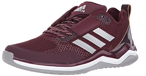 adidas Performance Men's Speed Trainer 3.0, Maroon/Metallic Silver/White, 11 M (Maroon Softball Shoes)