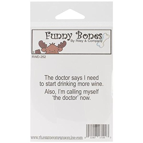 Riley & Company Funny Bones Cling Mounted Stamp, 2.5 by 1-Inch, I am The Doctor ()