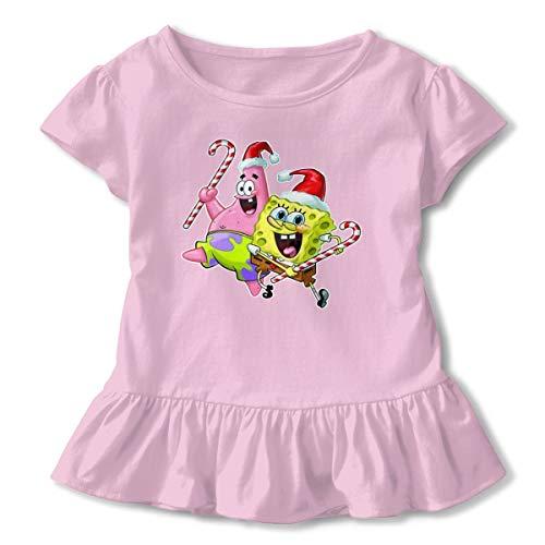 PSnsnX Spongebob and Patrick Christmas Girls' Short-Sleeve Tunic T-Shirt