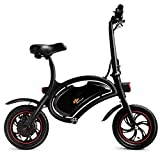 Goplus Folding Electric Bike 350W Lightweight E-Bike Mini Electric Bicycle Scooter Max Speed Up to 19 MPH with 12.5 Mile Range, Cruise Control System, APP Speed Setting and Headlight (Black)