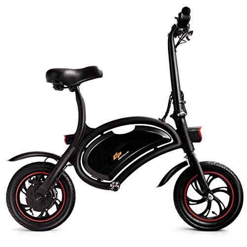- Goplus Folding Electric Bike 350W Lightweight E-Bike Mini Electric Bicycle Scooter Max Speed Up to 19 MPH with 12.5 Mile Range, Cruise Control System, APP Speed Setting and Headlight (Black)