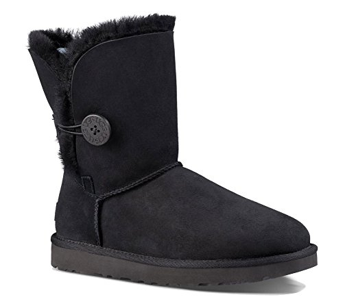 UGG Women's Bailey Button II Winter Boot, Black, 8 B US ()