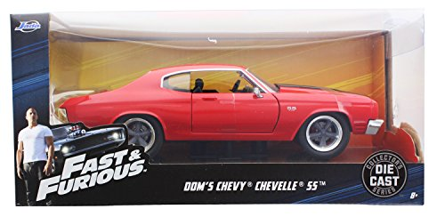 1/24 Jada Fast & Furious Dom's Chevy Chevelle SS Diecast Model Car Red 97193 ,#G14E6GE4R-GE (Chevelle Diecast Model)