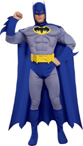 Rubie's Costume Dc Heroes and Villains Collection Deluxe Muscle Chest Batman, Multicolored, Medium (Batman Costumes Adult)