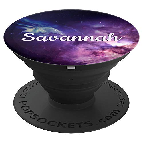 Savannah Stand - Savannah Phone Grip Galaxy Personalized Name Birthday Gift - PopSockets Grip and Stand for Phones and Tablets