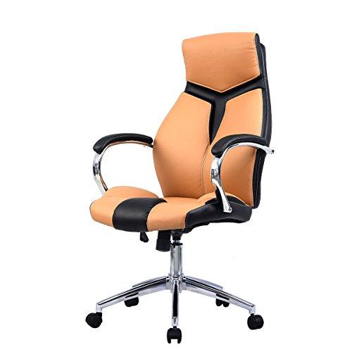 Ergonomic PU Leather High Back Executive Computer Desk Task Office Chair