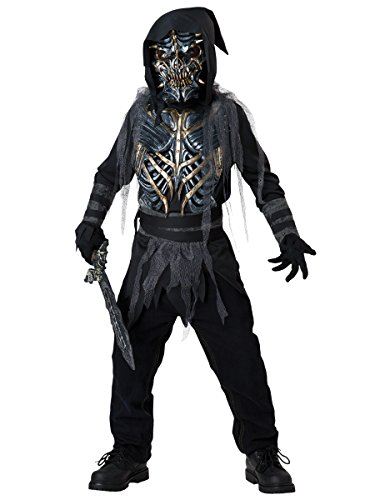 Horror Warrior Child Costumes (InCharacter Costumes Death Warrior Costume, Size 10/Large)