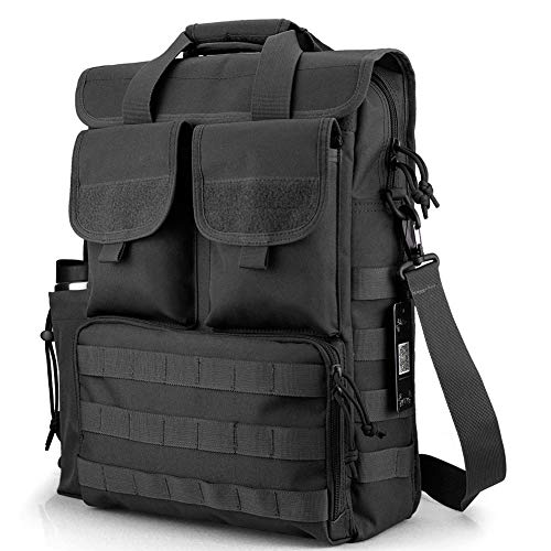 Tactical Briefcase Military Laptop Messenger Bag Computer Shoulder Bag Engineers Men Handbags Heavy Duty with Shoulder Strap, Multiple Pouches & Compartments