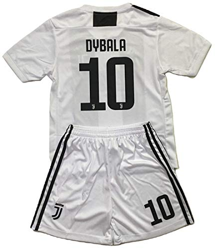 Gadzhinski2017 Dybala #10 Juventus 2018-2019 Kids/Youths Home Soccer Jersey & Shorts (9-10 Years Old)