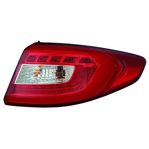 Fits Hyundai Sonata 15 Tail Light Assembly LED Type Outer Passenger Side (NSF Certified)