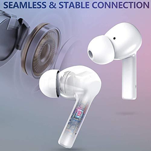 Auriculares Bluetooth, Auriculares internos inalámbricos con Sonido estéreo de Alta fidelidad, Tiempo de reproducción de 30 Horas, Auriculares Deportivos Impermeables IPX7 con micrófono