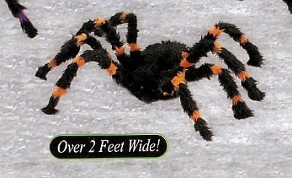 (The Gothic Collection HALLOWEEN LARGE BLACK AND ORANGE FURRY SPIDER Poseable and Bendable Legs - -)
