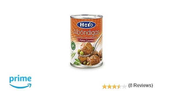 Hero Platos Caseros Albóndigas en Salsa con Guisantes - 430 gr: Amazon.es: Amazon Pantry