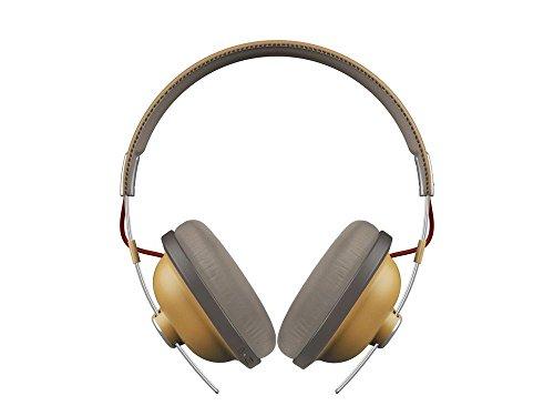 Panasonic Retro Over-The-Ear Headphones with Bluetooth 24-Hour Playback Color Dijon (RP-HTX80B-C)