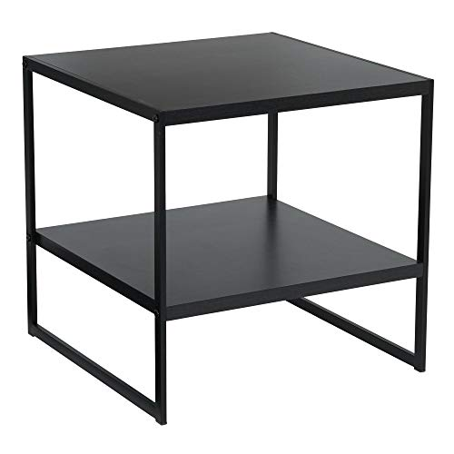 Household Essentials Square 2-Tier Black End Table, ()