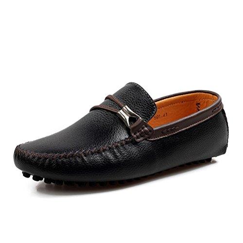 Altijd Mooie Heren Casual Lederen Stuiver Loafers Drijfschoenen Zwart