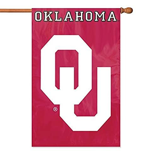 Party Animal Oklahoma Sooners Banner College Flag - Double Sided Pole