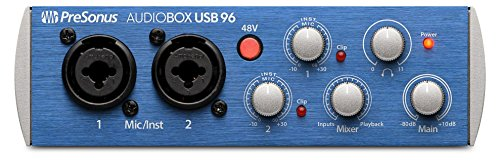 PreSonus AudioBox USB 96 2x2 USB Audio Interface (Best Bus Powered Audio Interface)