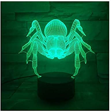 Spider-Man 3D LED Night Light Illusion Lamp 7 Colour Change Decor Lamp Perfect Gifts for Kids