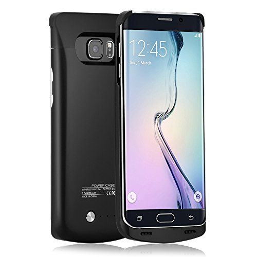iAlegant Galaxy S6 Edge plus Battery Case, Portable Backup Power Bank Case 4200mAh Ultra Slim Rechargeable Extended Charging Case for Samsung Galaxy S6 Edge plus (Black)