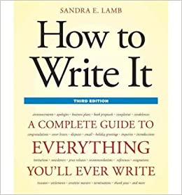 Book HOW TO WRITE IT : COMPLETE GUIDE TO EVERYTHING YOULL EVER WRITE
