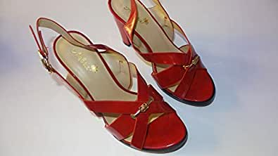 Adora Red Heel Sandal For Women
