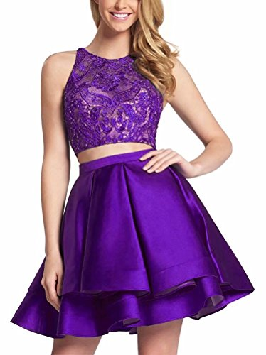 Juniors Line Homecoming Mini Pleated Graduation Piece Two Dresses Grape Gowns Prom Dress Short for A aH8wqTxd8