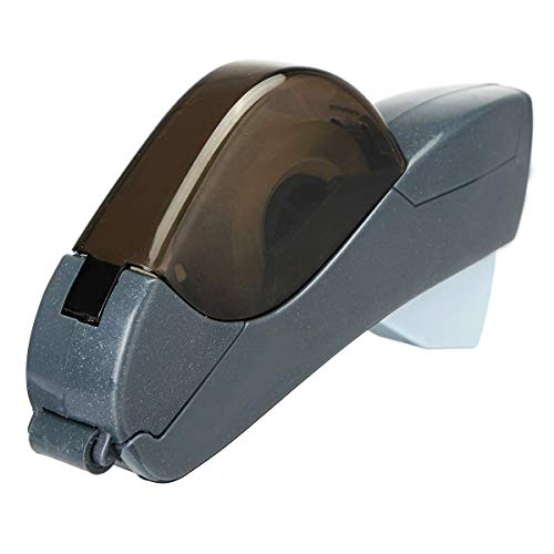 (Tape Dispenser 12/19mm One Press Tape Dispenser Handheld Adhesive Holder Packaging Cutter Tools Sealing Machine Office School Supplies 2 Colors Dark Grey)