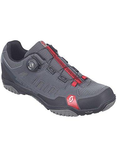Scott - Zapatillas para hombre (para bicicleta y trekking), color gris y rojo anthracite rot