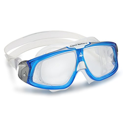 (Aqua Lung America Seal Mask with Clear Lens, Blue )