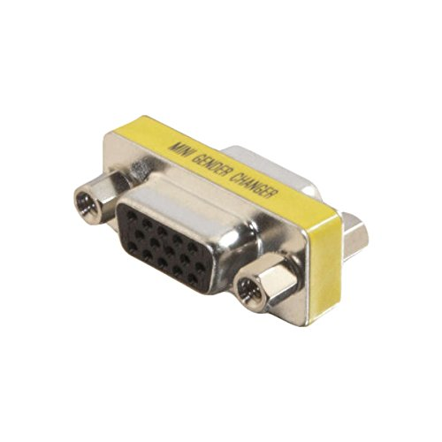 Hd15 Vga Mini (C2G/Cables to Go 18962 HD15 VGA F/F Mini Gender Changer (Coupler))