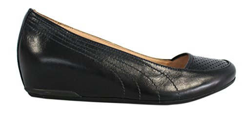PUMA LADIES ESPLORA Hidden wedge SHOES Black Leather Slip On SHOES MADE IN ITALY 1JKhJNcT