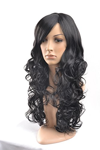 Besgo Stylish Long Curl Blonde Hair Wig Party Perruque with Wig Cap