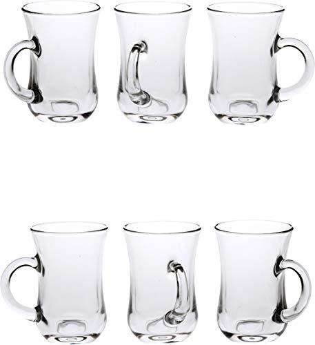 Afast New Look Glass Multipurpose Beer Mug with Handle Set of 61081