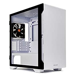 Thermaltake S100 Tempered Glass Snow Edition Micro-ATX Mini-Tower Computer Case with 120mm Rear Fan Pre-Installed CA-1Q9…
