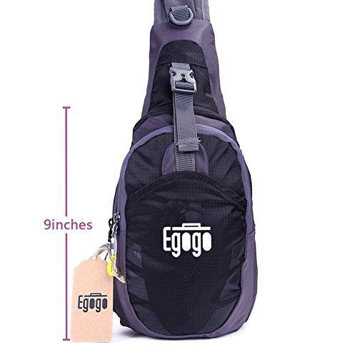 EGOGO Sling Bag, Outdoor Casual Bike Camping Hiking Chest Shoulder Unbalance Gym Fanny Backpack Sack...