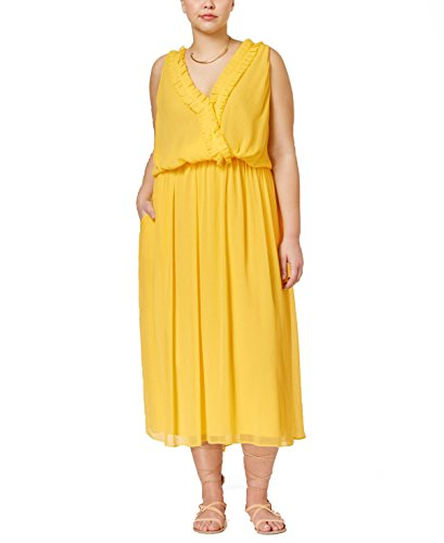 Rachel Rachel Roy Curvy Plus Surplice Pleated Dress