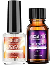 Rosydream 2PCS Professional Natural Nail Prep Dehydrate Nail Primer Strong Adhesion Nail Art Kit for Acrylic Powder Nail Gel DIY Tools Nail Glue for Women Gift