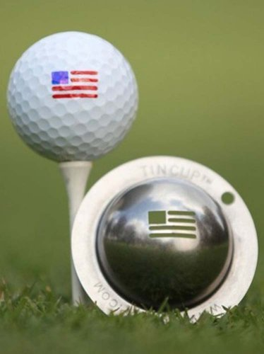 - Tin Cup Golf Ball Custom Marker Alignment Tool - Stars and Stripes