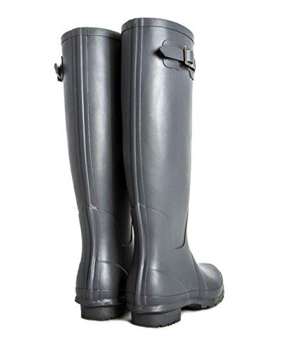Rain Earl Free Delivery Matt Wide Award Adjustable Grey Tall Wellies Grey Boots Women's Fit Plum Calf Winning 45cm's upto Rockfish wOaa1qTE