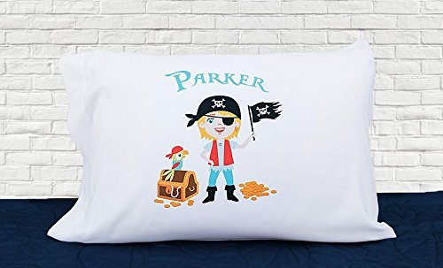 Qualtry Personalized Gifts for Toddler Kids, Boys and Girls - Unique Customized Pillow Cases, Standard Size 21 x 31 (For Boys, Pirate (Personalized Gifts For Toddler Boy)
