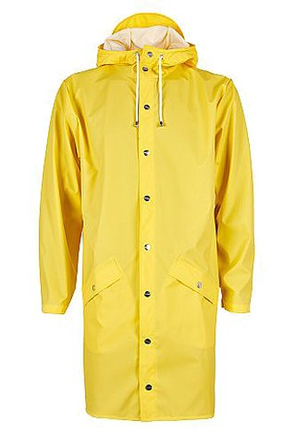 Manteau Jaune Jacket RAINS Homme Yellow Long I7fExqPv
