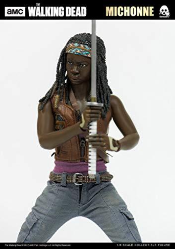 Figure 1/6 the Walking Dead Michonne Threezero Preto