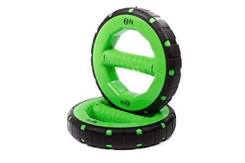 NuBellsPT Dumbells Set, 3-Pound, Green