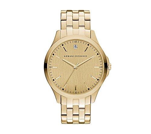 A|X Armani Exchange Men's Goldtone Watch With Diamond On Goldtone Dial by A|X Armani Exchange (Image #1)