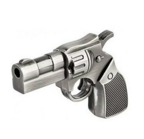 Sandios 8GB Design Data Travel USB 2.0 Flash Drives Memory Stick Pen Thumb Drive - C.I.A. NYPD Police Officer Cop Weapons Handgun Revolver Pistol Metal Gun Toy Gifts (Halloween Stores Kingston)