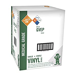 Disposable Vinyl Exam Gloves - Clear, Medical Grade, Powder Free, Latex Free, Lab Work, Plastic, Food, Cleaning, Wholesale Cheap, Size Large (Case of 1000)