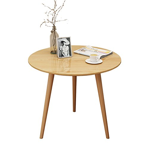 D&L Solid wood Waterproof Side table, Round Living room Sofa table Coffee table Bedroom Night table Vintage Telephone table -log 40x38cm(16x15inch)