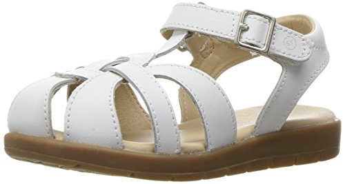 White Leather Strap Sandal (Stride Rite Summer Time Sandal (Toddler/Little Kid), White, 2.5 M US Little Kid)
